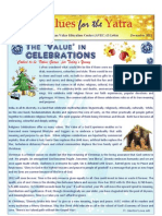 Values for the Yatra DECEMBER 2012