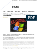 Kill Windows __ Teknik Membunuh Windows Dengan Tangan Kosong
