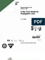 A Ray Trace Model for Propagation Loss ~ Technical Report 1576 (RDT&E) by C. P. Hattan, 02-1993.