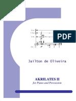Akrilates No.2 for Piano and Percussion - Full Score