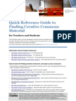 Quick Reference Guide to Finding Creative Commons Material
