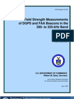 NTIA Report 97-337 ~ Field Strength Measurements of DGPS and FAA Beacons in the 285-To-325-kHz Band by J.R. Hoffman et al., 06-1997.