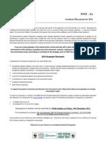 WWF Post Graduate Opportunities