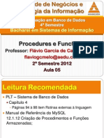 ProgSQL05 Procedures Functions