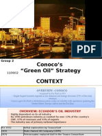 Conoco - Green Oil Strategy