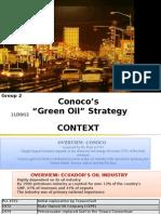 Conoco - Green Oil Strategy