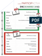 Agenda Participactiva Diciembre