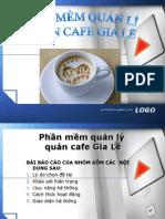 Phần mềm quản lý quán café Gia Lê