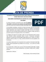 NOTA DE PRENSA SESIÓN DE CONCEJO