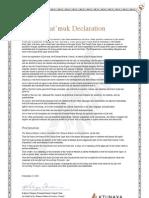 Qat'muk Declaration