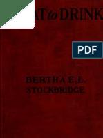 1920 - What to Drink Bertha E. L. Stockbridge