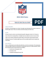 2012 Rules
