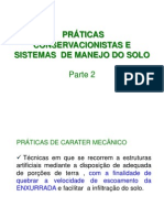 PRÁTICAS CONSERVACIONISTAS E SISTEMAS  DE MANEJO DO SOLO - Parte 2