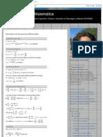 Prende tu Neurona Matemática_ Formulario de Ecuaciones Diferenciales