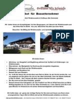 Angebot  für  Busunternehmer Winklmoosalm - Schmiede