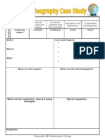 Case Study Template for GCSE