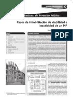 CASOS DE INHABILTACION DE VIABILIDAD E INACTIVIDAD DE UN PIP