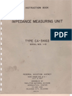Federal Aviation Agency (FAA) ~ CA-3462 Impedance Measuring Unit Manual, July 1957.