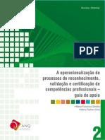 Guia de Operacionalização - Rvcc Profissional