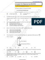GATE_Civil Engineering Question Paper_2006