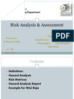 Risk Analysis & Assessment