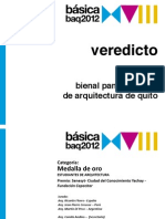 Veredicto BAQ 2012. Premio Nacional
