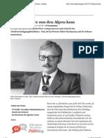 Der Spion, der aus den Alpen kam -  tagesanzeiger.ch (2011)