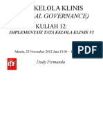 Dody Firmanda 2012 - Materi Kuliah Clinical Governance KARS 12
