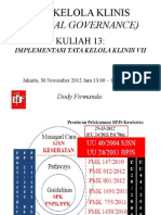 Dody Firmanda 2012 - Materi Kuliah Clinical Governance KARS 13