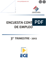 ENCUESTA CONTINUA DE EMPLEO - 3er. TRIMESTRE 2012 - PARAGUAY - PORTALGUARANI