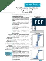 01 Panorama Económico Departamental - Setiembre 2012