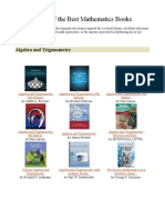 106650872 List of the Best Mathematics Books