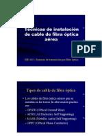 Tecnicas de Instalacion de Fibra Optica
