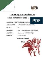 TRABAJO ACADÉMICO DE PSICOLOGIA DEL DEPORTE