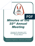 2011 USATF Annual Meeting Minutes