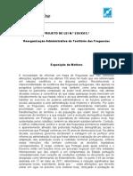 PROJETO DE LEI N.º 320/XII/2.ª sobre a Reorganização Administrativa do Território das Freguesias