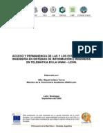 INVESTIGACION ACCESO Y PERMANENCIA UNAN-LEÓN NICARAGUA