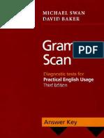Grammar Scan Answer Key