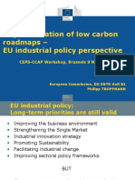 IMPLEMENTATION OF LOW CARBON ROADMAPS. EU Industrial Policy Perspective