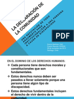 LA DECLARACIÓN DE LA COMUNIDAD