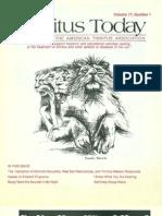 Tinnitus Today March 1992 Vol 17, No 1