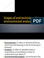 Stages of and Techniques for Environmental Analysis