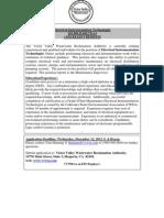 Electrical Instrumentation Technologist Job Ad-Flyer 11-28-2012 PDF