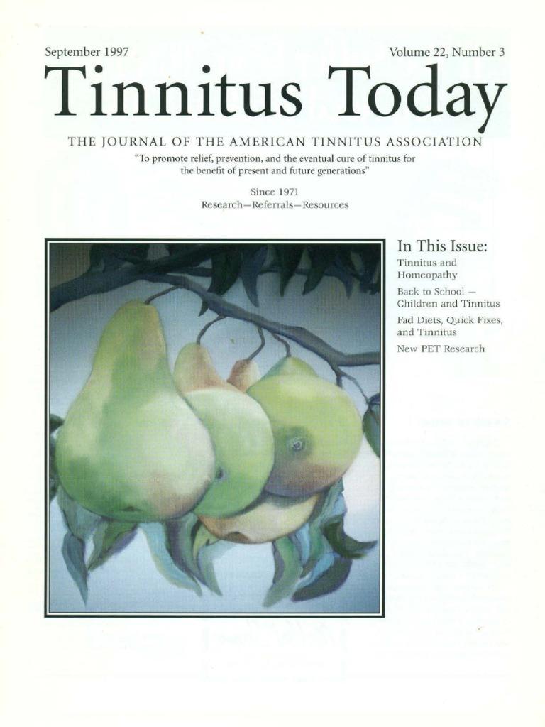 Tinnitus Today: September 1997 Volume 22, Number