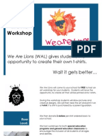 We Are Lions Workshop Brochure