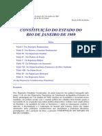 Constituição Do Estado Do Rio de Janeiro - Brasil