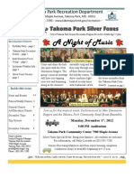 Silver Foxes Newsletter - December 2012 from the Takoma Park Recreation Department