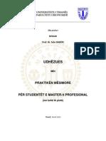 Udhezues Praktika Master Profesional 2012 Mp Kohe Te Plote
