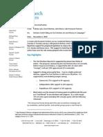 Lake Research Congressional Fair Elections Survey November 4, 2012