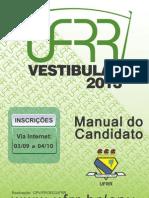 Manual Do Candidato 2013 Vestibular Da UFRR